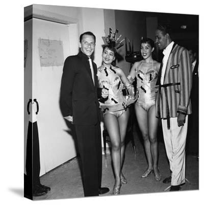 Frank Sinatra-Howard Morehead-Stretched Canvas Print