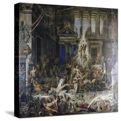 Les Pretendants. Started in 1852-Gustave Moreau-Stretched Canvas Print
