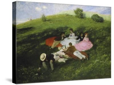 The Picnic, 1873-Paul von Szinyei-Merse-Stretched Canvas Print