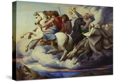 The Horsemen of the Apocalypse, 1838-Edward Jakob Von Steinle-Stretched Canvas Print
