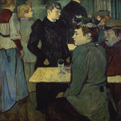 A Corner in the Moulin De La Galette-Henri de Toulouse-Lautrec-Stretched Canvas Print