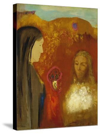 Christ and the Samaritan Woman-Odilon Redon-Stretched Canvas Print