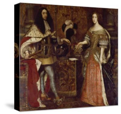 The Elector Ferdinand Maria and His Wife Henriette Adelaide. Mid-17th Century-Sebastiano Bombelli-Stretched Canvas Print