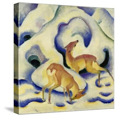 Rehe Im Schnee, 1911-Franz Marc-Stretched Canvas Print