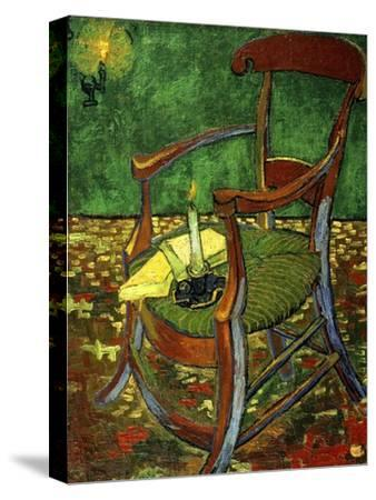 Gauguin's Chair (With Candle), 1888-Vincent van Gogh-Stretched Canvas Print