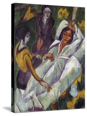 Women Taking Tea, 1914-Ernst Ludwig Kirchner-Stretched Canvas Print