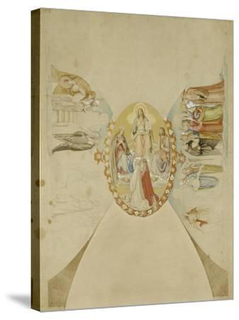 Das Paradies. Entwurf Fuer Das Deckenge- Maelde des Dantezimmers des Casino Massi--Philipp Veit-Stretched Canvas Print