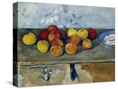 Still-Life with Apples and Cookies, 1879-82-Paul C?zanne-Stretched Canvas Print