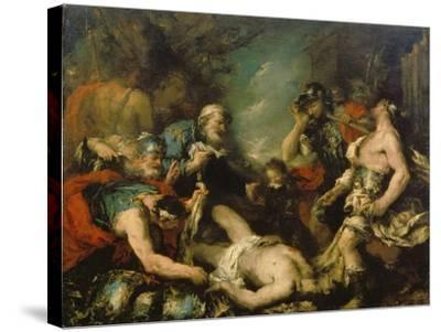Alexander the Great before the Corpse of Darius Iii-Francesco Guardi-Stretched Canvas Print