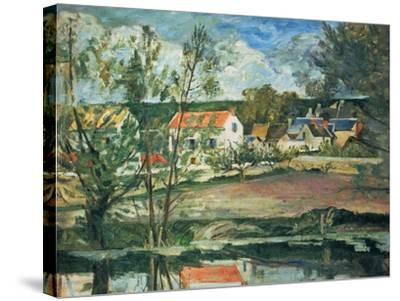 In the Valley of the Oise River , 1873/1875-Paul C?zanne-Stretched Canvas Print