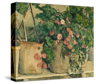 Still Life with Petunias, about 1885-Paul C?zanne-Stretched Canvas Print