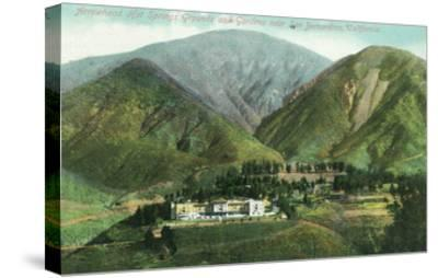 California - View of Arrowhead Hot Springs Grounds Near San Bernardino-Lantern Press-Stretched Canvas Print
