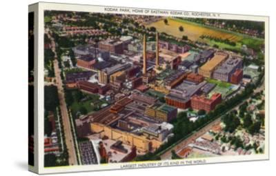 Rochester, New York - Aerial View of Kodak Park-Lantern Press-Stretched Canvas Print