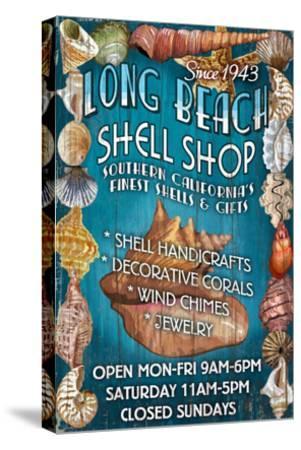 Long Beach, California - Shell Shop-Lantern Press-Stretched Canvas Print