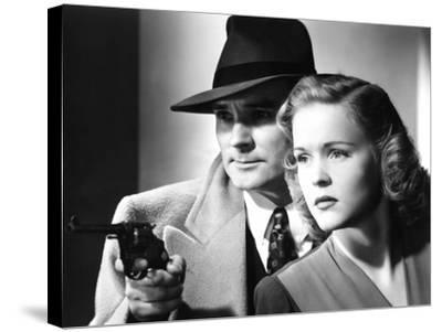 Dick Tracy's Dilemma, Ralph Byrd, Kay Christopher, 1947--Stretched Canvas Print