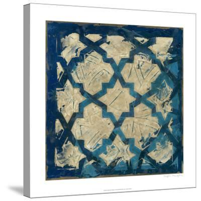 Stained Glass Indigo I-Megan Meagher-Stretched Canvas Print