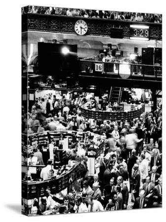 Trading Floor of the New York Stock Exchange on August 16, 1971--Stretched Canvas Print