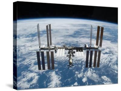 International Space Station in 2009--Stretched Canvas Print