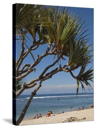 Beach, St. Pierre, Reunion Island, French Overseas Territory-Cindy Miller Hopkins-Stretched Canvas Print