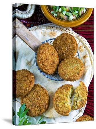 Falafel, Chickpeas Croquettes, Arabic Countries, Arabic Cooking-Nico Tondini-Stretched Canvas Print