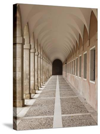 Arched Walkway, the Royal Palace, Aranjuez, Spain-Walter Bibikow-Stretched Canvas Print