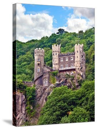 Castle Rheinstein, Rheinland-Pflaz, Germany-Miva Stock-Stretched Canvas Print