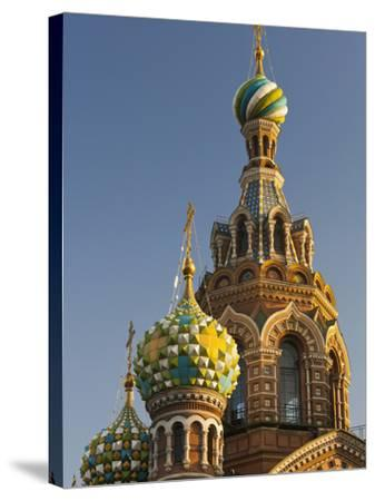 Church of the Saviour of Spilled Blood, Saint Petersburg, Russia-Walter Bibikow-Stretched Canvas Print