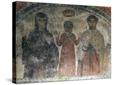 The Earliest Representation of San Gennaro (St Januarius), Catacombs of San Gennaro, Naples, Italy-Oliviero Olivieri-Stretched Canvas Print