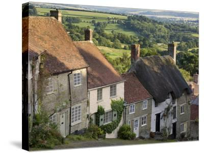 Gold Hill, and View over Blackmore Vale, Shaftesbury, Dorset, England, United Kingdom, Europe-Neale Clarke-Stretched Canvas Print