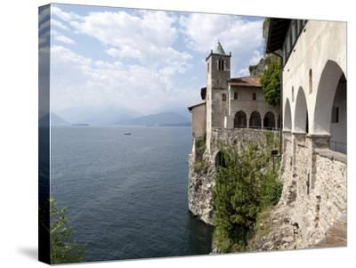 Hermitage of Santa Caterina del Sasso, Lake Maggiore, Lombardy, Italian Lakes, Italy, Europe-Oliviero Olivieri-Stretched Canvas Print