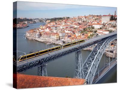The Dom Luis 1 Bridge over River Douro, Porto (Oporto), Portugal-Adina Tovy-Stretched Canvas Print