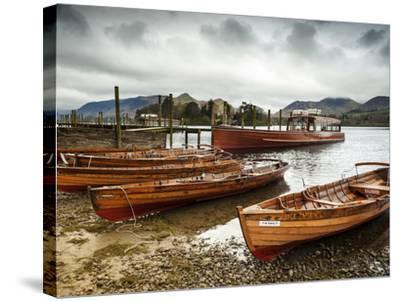 Keswick Launch Boats, Derwent Water, Lake District National Park, Cumbria, England-Chris Hepburn-Stretched Canvas Print