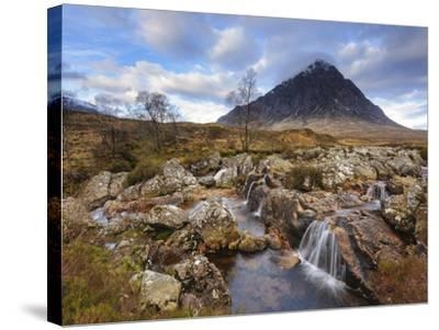Buachaille Etive Mor and the River Coupall, Glen Etive, Rannoch Moor, Western Highlands, Scotland-Chris Hepburn-Stretched Canvas Print
