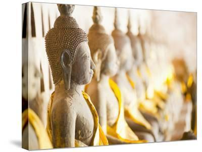 Buddhas at Wat Si Saket, the Oldest Temple in Vientiane, Laos, Indochina, Southeast Asia, Asia-Matthew Williams-Ellis-Stretched Canvas Print