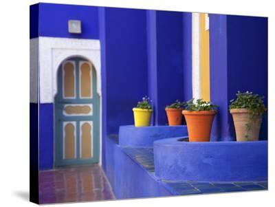 Majorelle Gardens, Marrakesh, Morocco, North Africa, Africa-Frank Fell-Stretched Canvas Print