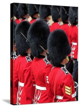 Soldiers at Trooping Colour 2012, Queen's Official Birthday Parade, Horse Guards, London, England-Hans Peter Merten-Stretched Canvas Print