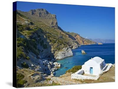 Beach and Church, Agia Anna, Amorgos, Cyclades, Aegean, Greek Islands, Greece, Europe-Tuul-Stretched Canvas Print