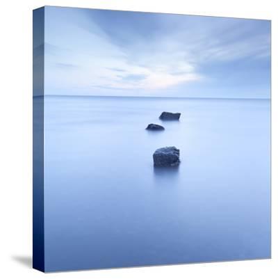 Three Rocks-Doug Chinnery-Stretched Canvas Print