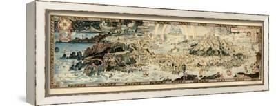1920, Fairyland Newly Discovered Anciente Mappe--Framed Stretched Canvas Print
