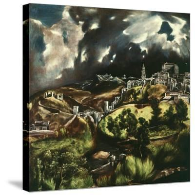 View of Toledo, Spain, 1595-1610-El Greco-Stretched Canvas Print