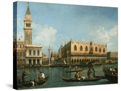 View of Basin of St Marks Square, Venice-Canaletto-Stretched Canvas Print