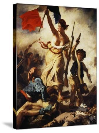 Liberty Leading the People, July 28, 1830, Detail-Eugene Delacroix-Stretched Canvas Print