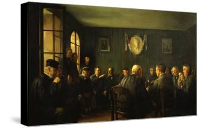 La Vente Aux Feux Dans La Salle De Mairie (French Judiciary Auction)-Jacques Baugnies-Stretched Canvas Print