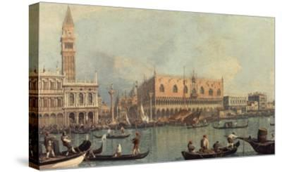 Venice, Showing Doge's Palace and Saint Mark's Square, Italy-Canaletto-Stretched Canvas Print