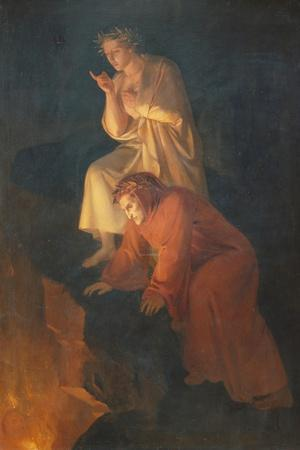Dante and Virgil, 1855-Rafael Flores-Stretched Canvas Print