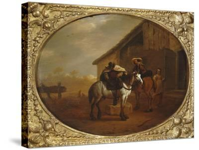 Leaving the Inn-Pieter Van Laer-Stretched Canvas Print