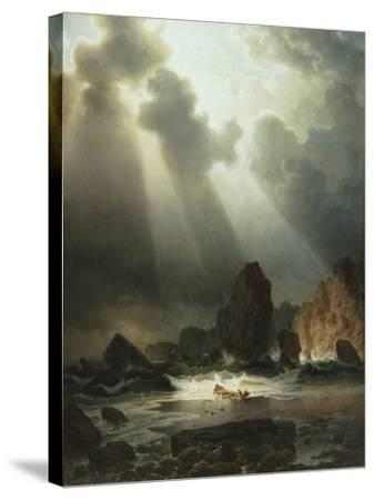 After the Storm, 1855-Johannes Cordes-Stretched Canvas Print