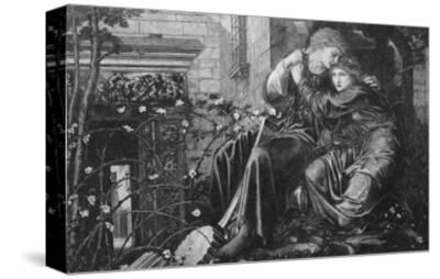 Love Among the Ruins, 1894, Engraved by M Dormoy-Edward Burne-Jones-Stretched Canvas Print