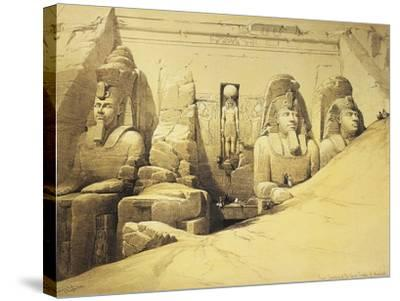 Temple of Abu Simbel, 13th Century Bc, Façade, Egypt, Lithograph, 1838-9-David Roberts-Stretched Canvas Print