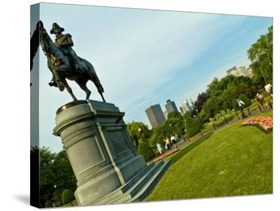 Statue of George Washington in the Boston Public Garden-Richard Nowitz-Stretched Canvas Print